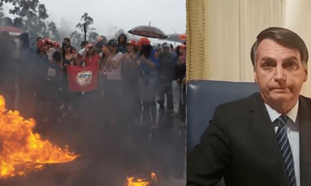 Após matéria da Globo, grupos de extrema-esquerda convocam protestos contra Bolsonaro