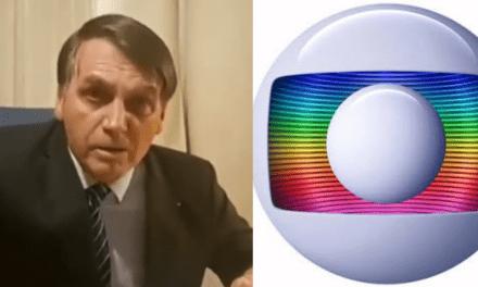 """Bolsonaro dispara: """"Imprensa porca, nojenta, canalha e imoral, como é o Sistema Globo de rádio e televisão"""""""