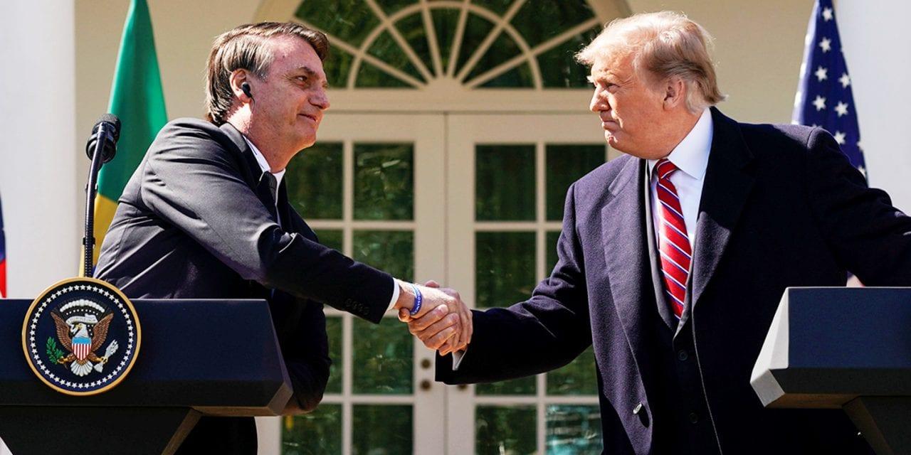 Donald Trump reforça apoio a entrada do Brasil na OCDE e chama artigo jornalístico de FAKE NEWS