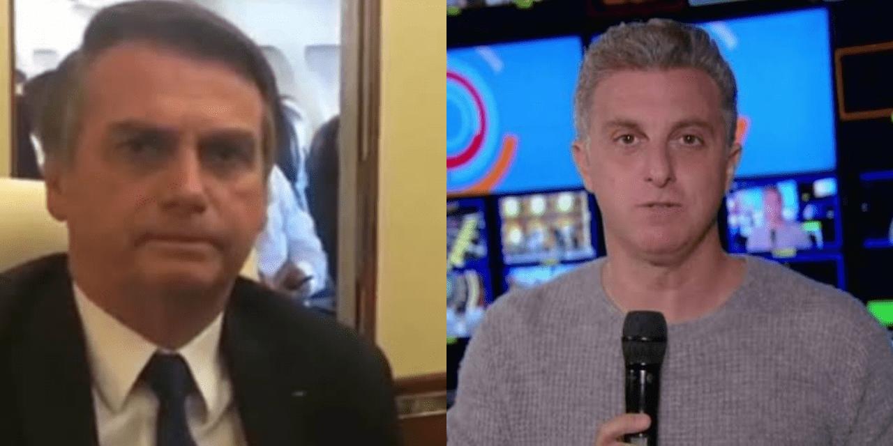 """Em vídeo, Bolsonaro detona Luciano Huck: """"Pau mandado da Globo"""""""