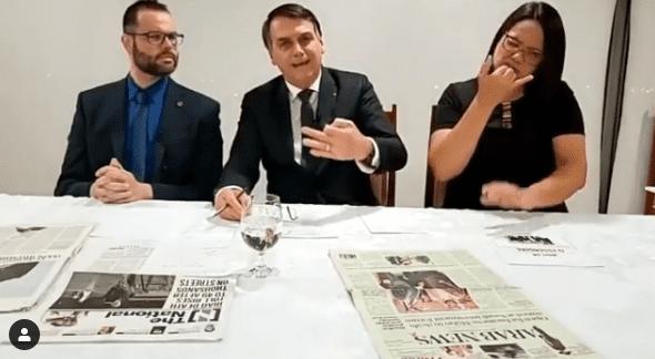 """Em vídeo, Bolsonaro desafia Globo e manda na lata: """"Um jornalismo canalha, sem escrúpulos. Desafio vocês a me convidar"""""""