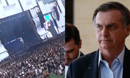 """Lacre in Rio: Ao som de """"vai dar PT"""" parte da platéia do Rock in Rio xinga Bolsonaro"""