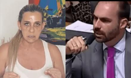 """Rita Cadillac, que contracenou com Frota em filme adulto, retruca Eduardo Bolsonaro: """"Me respeite"""""""