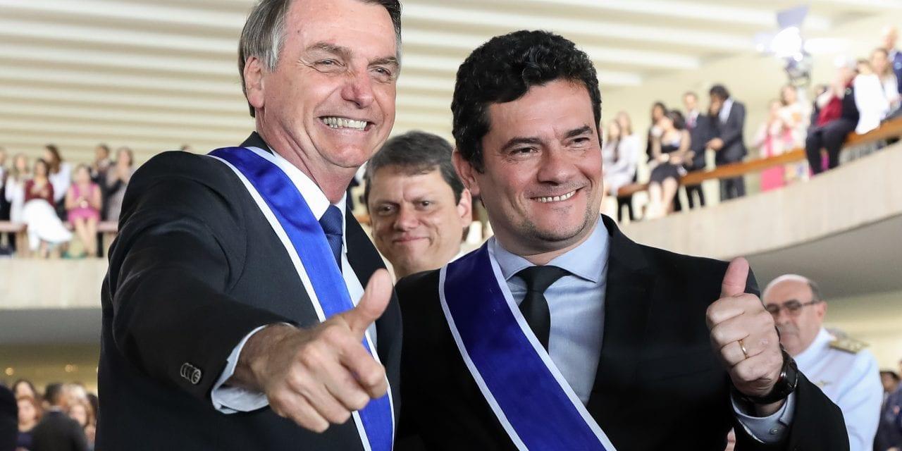 Bolsonaro considera a possibilidade de formar chapa com Sergio Moro em 2022