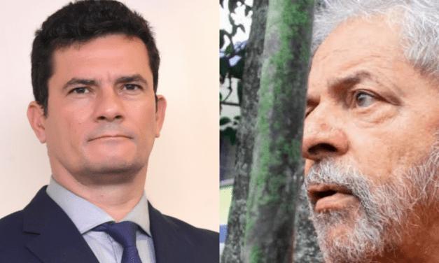 """Na lata, Moro responde Lula: """"Não respondo a criminosos, presos ou soltos"""""""