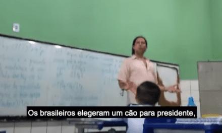Professor é flagrado dentro de sala de aula dizendo ter convicção de que Bolsonaro mandou matar Marielle