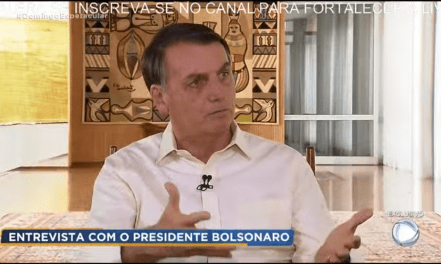 Bolsonaro desafia a Rede Globo