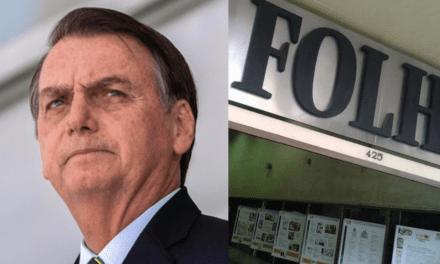 Cansado da Folha de São Paulo, Bolsonaro exclui jornal de licitação do governo