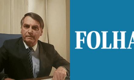 Bolsonaro irá boicotar marcas que anunciam na Folha de São Paulo