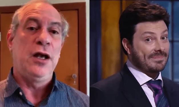 """Ciro presta apoio a Glenn por agressão, e Danilo Gentilli ironiza: """"Não foi o senhor que deu uma porrada no estômago de um jornalista?"""""""