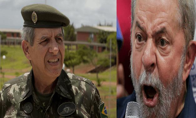 General Heleno acusa criminoso de incitar violência no Brasil
