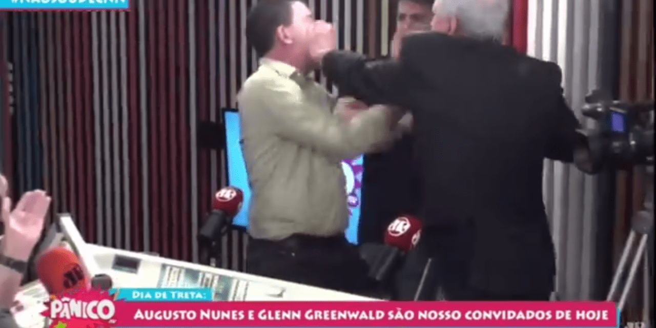 Nas redes sociais, Augusto Nunes vira 'herói' após tapa em Glenn Greenwald