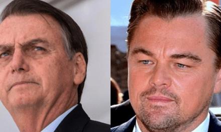 Bolsonaro solta o verbo, e culpa ator Leonardo DiCaprio por parte dos incêndios na Amazônia
