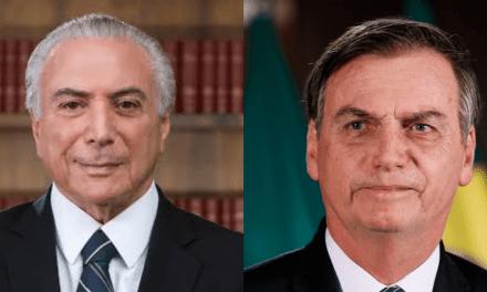 Temer faz elogios a Bolsonaro e detona radicalismo de Lula