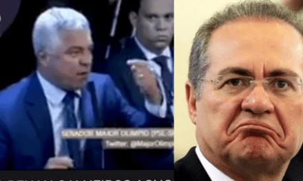 """Renan Calheiros 'surta' após Major Olímpio defender impeachment de ministros do STF, e recebe resposta: """"Não tenho rabo preso com poder nenhum"""""""
