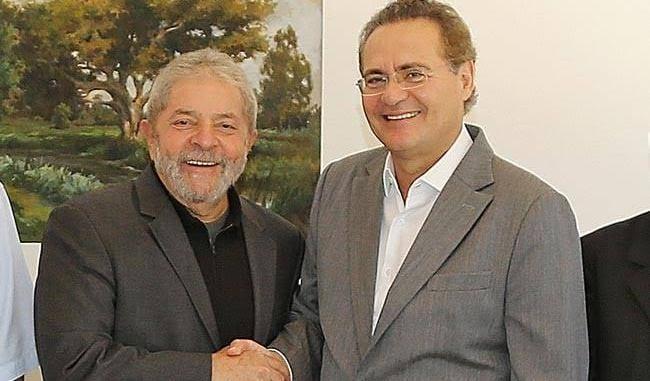 Renan Calheiros presta solidariedade a Lula