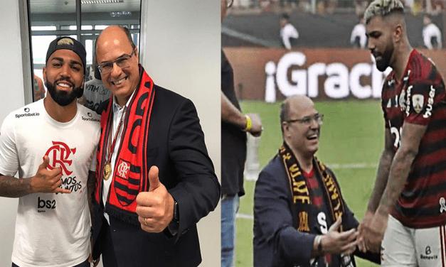 Após passar uma vergonha monumental, governador do Rio posta foto com Gabigol