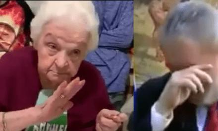 Vídeo: Senhora de 92 anos pede de aniversário que Lula volte para a cadeia