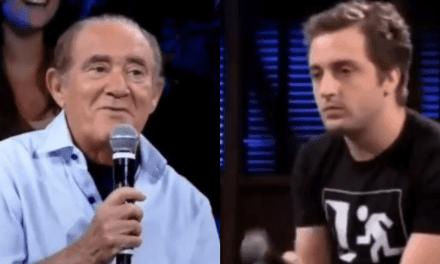 """Internet resgata vídeo do dia que Renato Aragão falou na cara de Gregório Duvivier: """"Não preciso usar religião para fazer humor"""""""