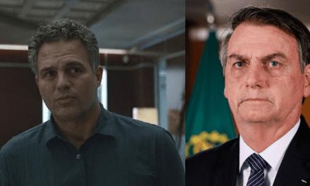 """Ator que interpreta o Hulk nos cinemas, Mark Ruffalo dispara contra Bolsonaro: """"Bolsonaro e suas políticas não ambientais"""""""