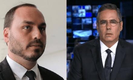 """Calos Bolsonaro publica trecho de filme, e jornalista Fabio Pannunzio se sente ameaçado: """"É uma óbvia ameaça. Ainda bem que não passa de delírio"""""""