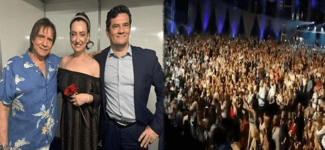 VÍDEO: Sergio Moro é ovacionado e aplaudido de pé em show do Roberto Carlos