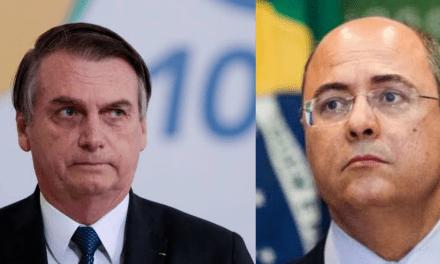 """Bolsonaro diz que Witzel quer destruí-lo a qualquer custo com o caso Queiroz: """"Há uma obsessão do governador do Rio em ser presidente"""""""