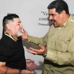 """Maradona viaja à Venezuela para prestar """"apoio político"""" ao ditador Nicolás Maduro"""