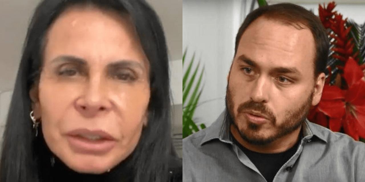 """Após postagem de Carlos Bolsonaro, Gretchen se irrita e ameaça processá-lo: """"Se ele não te processar, processo eu que sou mãe dele"""""""