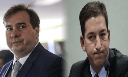 Rodrigo Maia publica mensagem de apoio a Glenn Greenwald e é massacrado por internautas