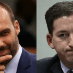 """Após denúncia sob Gleen Greenwald, Eduardo Bolsonaro afirma: """"Glenn vai poder até conhecer a cadeia"""""""