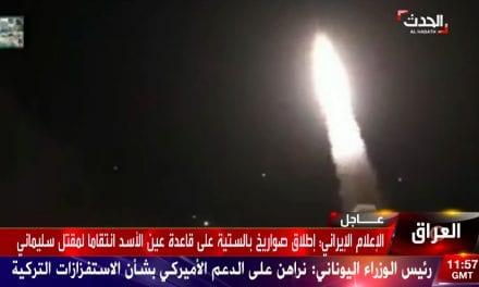 Mísseis iranianos atingem bases aéreas dos EUA no Iraque