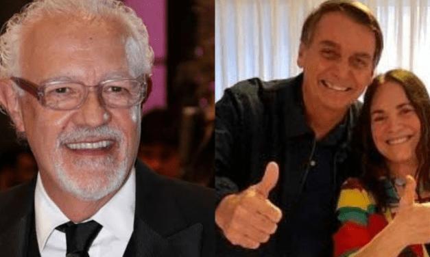 """Mesmo sendo da Globo, ator Ney Latorraca sai em defesa de Regina, nova secretária de Bolsonaro: """"Sou 100% Regina Duarte"""""""