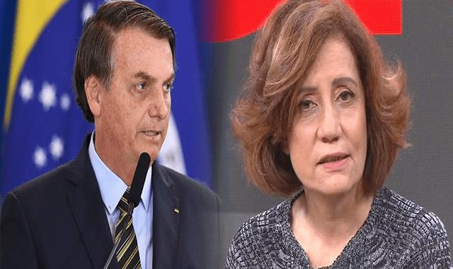 Transpirando rancor, Miriam Leitão volta a ofender o Presidente Jair Bolsonaro