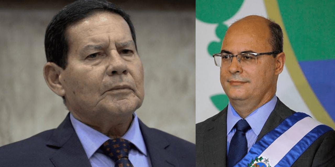 """Witzel grava conversa com Mourão, Bolsonaro crítica o governador e vice-presidente detona: """"Esqueceu a ética e a moral"""""""