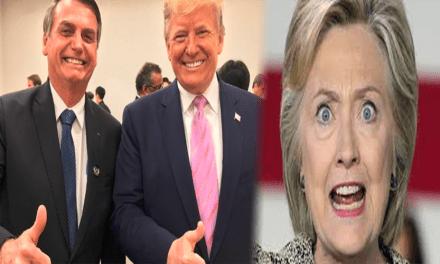Bolsonaro é alvo indireto de ataques de Hillary Clinton