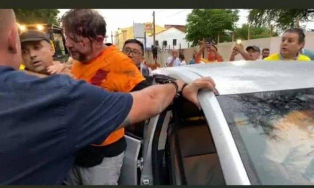 Vídeo: Cid Gomes é baleado após tentar invadir quartel da PM com retroescavadeira