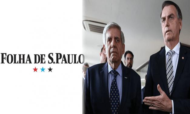 Folha incentiva impeachment do Presidente Bolsonaro pelo Congresso e promove piadinha com General Heleno