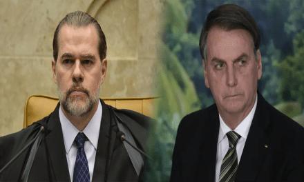 """Recado de Toffoli para Bolsonaro: """"Se avançar, o STF tem instrumentos para lidar com a situação e vai usá-los"""""""