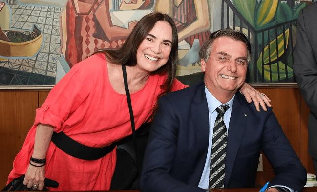 """Após pronunciamento de Bolsonaro sobre o coronavírus, Regina Duarte sai em sai em sua defesa: """"Está certíssimo"""""""